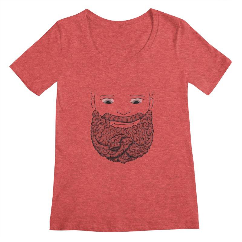 Face Sweater Women's Scoopneck by Luke Wisner