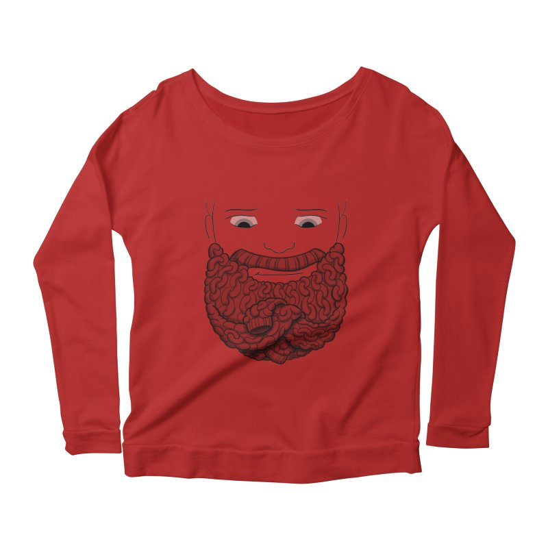 Face Sweater Women's Longsleeve Scoopneck  by Luke Wisner