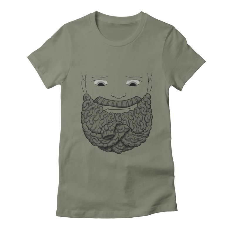Face Sweater Women's Fitted T-Shirt by Luke Wisner