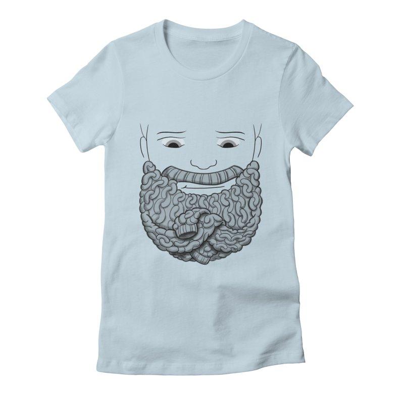 Face Sweater Women's Fitted T-Shirt by Luke Wisner