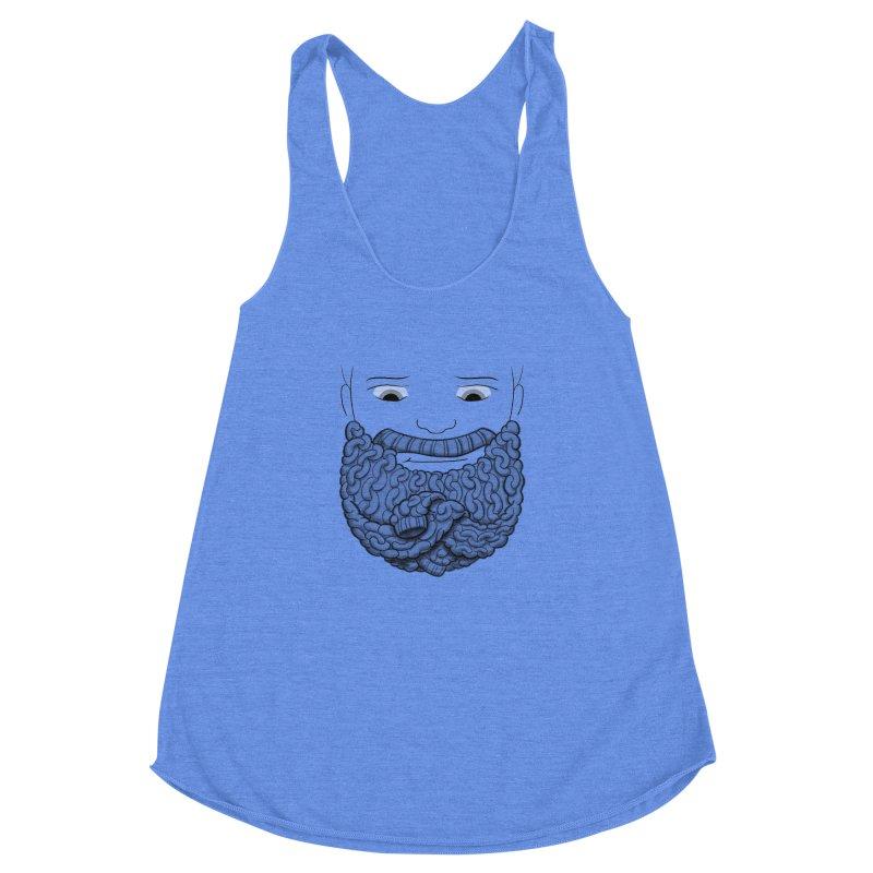 Face Sweater Women's Racerback Triblend Tank by Luke Wisner