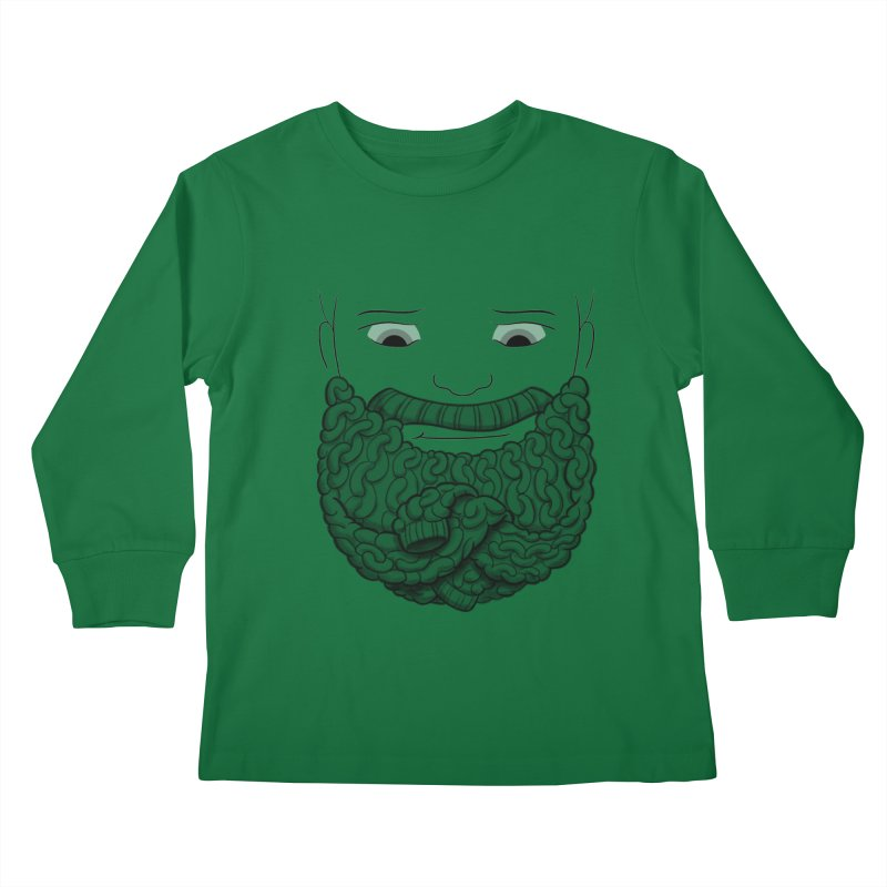 Face Sweater Kids Longsleeve T-Shirt by Luke Wisner