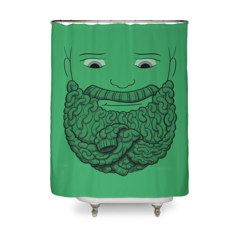 Face Sweater Home Shower Curtain by Luke Wisner