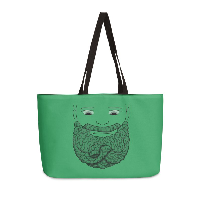 Face Sweater Accessories Weekender Bag Bag by Luke Wisner