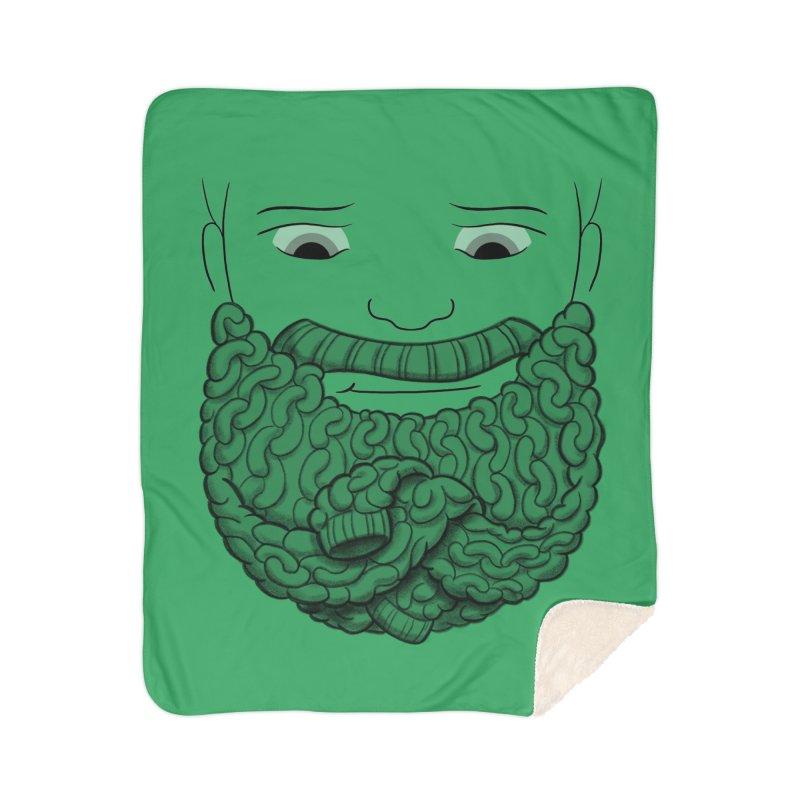 Face Sweater Home Sherpa Blanket Blanket by Luke Wisner