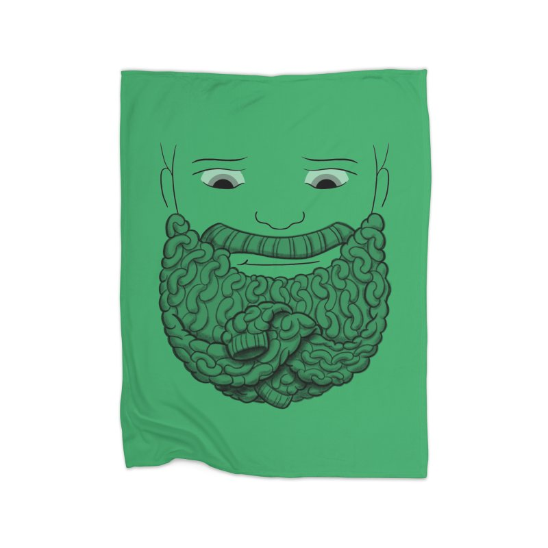 Face Sweater Home Fleece Blanket Blanket by Luke Wisner