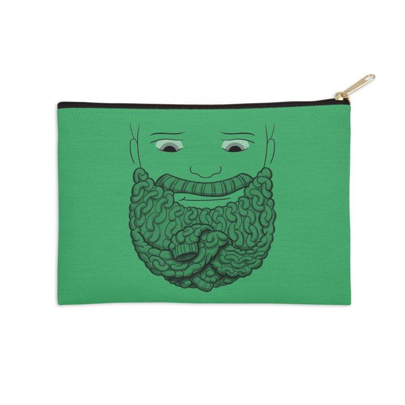 Face Sweater Accessories Zip Pouch by Luke Wisner