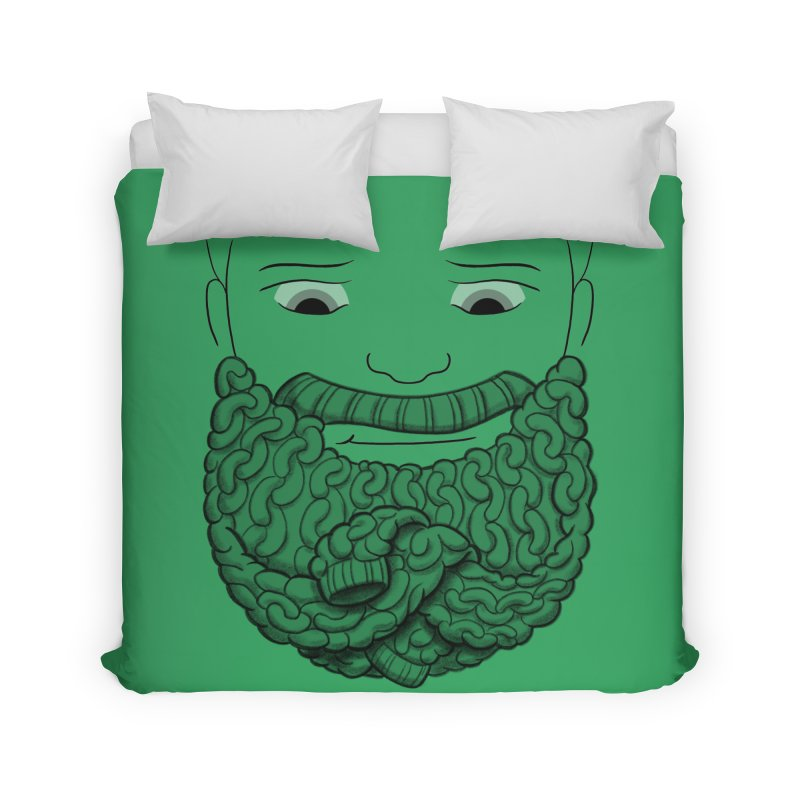 Face Sweater Home Duvet by Luke Wisner