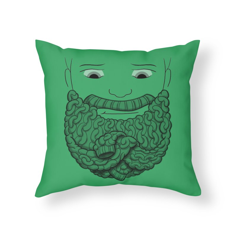 Face Sweater Home Throw Pillow by Luke Wisner