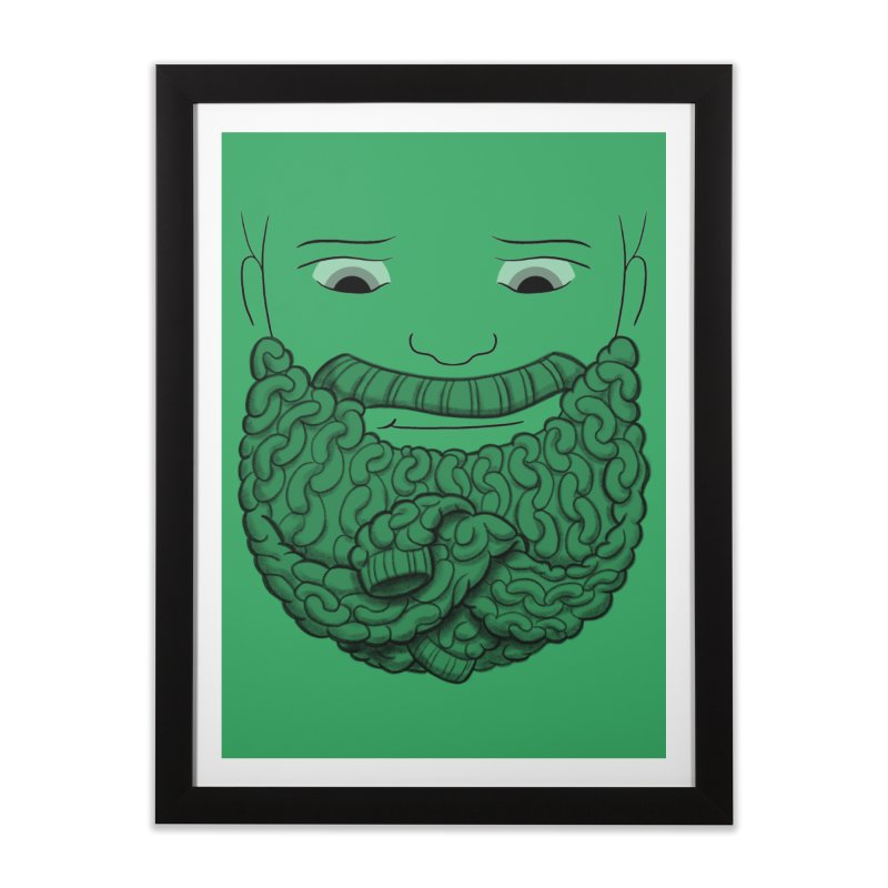 Face Sweater Home Framed Fine Art Print by Luke Wisner