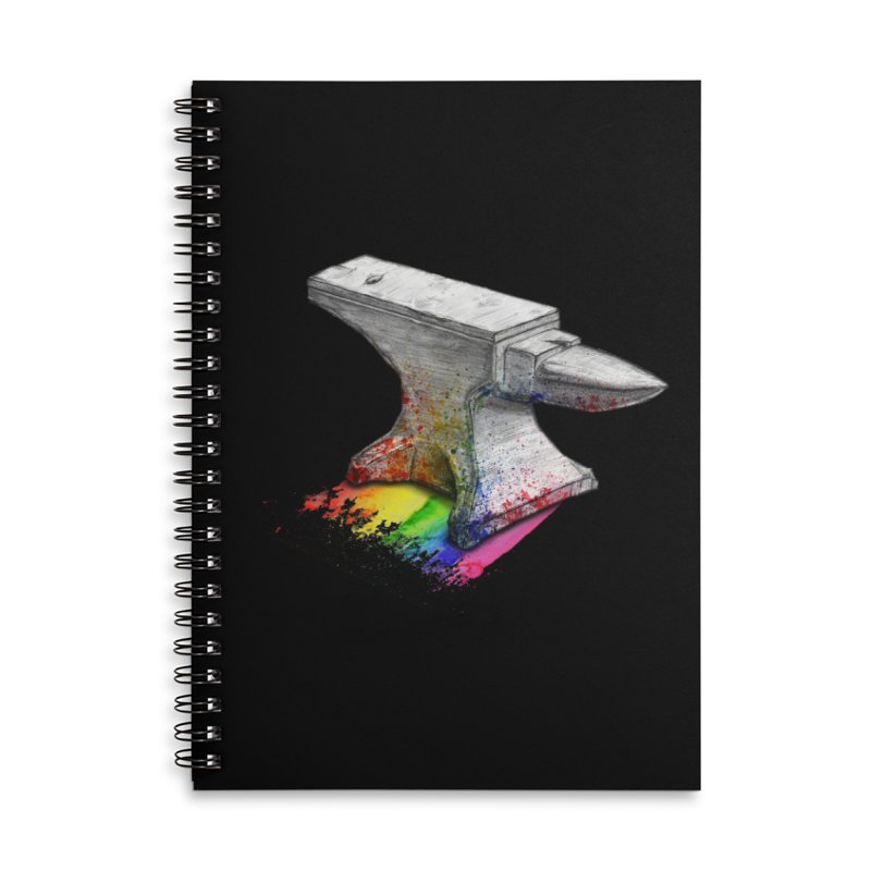 Comedic Depression Accessories Lined Spiral Notebook by Luke Wisner