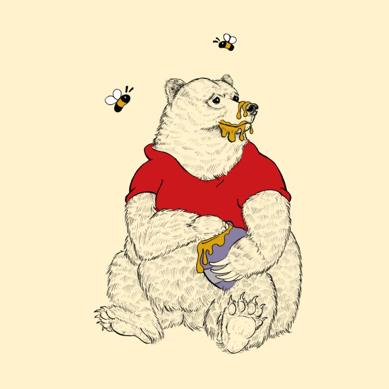 Silly ol' Bear Women's V-Neck by Luke Wisner