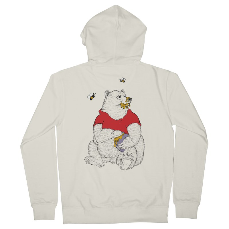 Silly ol' Bear Women's French Terry Zip-Up Hoody by Luke Wisner