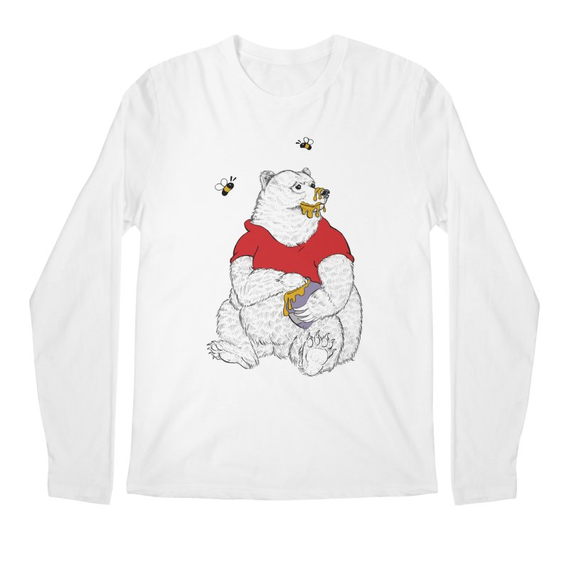 Silly ol' Bear Men's Regular Longsleeve T-Shirt by Luke Wisner