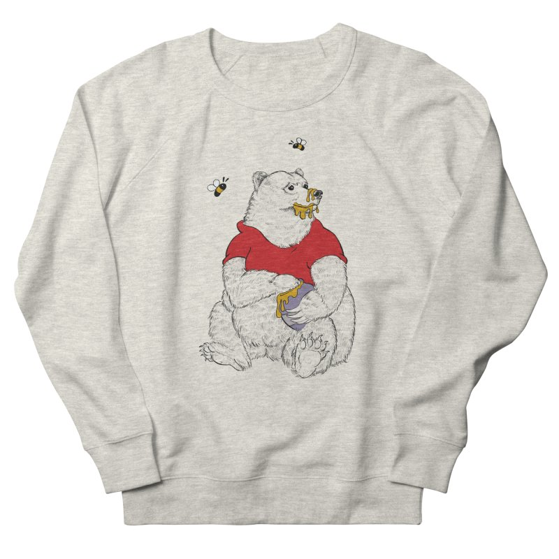 Silly ol' Bear Men's French Terry Sweatshirt by Luke Wisner