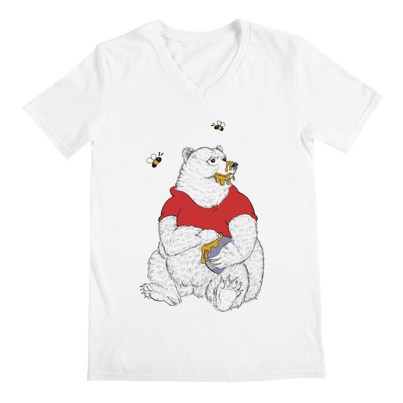 Silly ol' Bear Men's Regular V-Neck by Luke Wisner