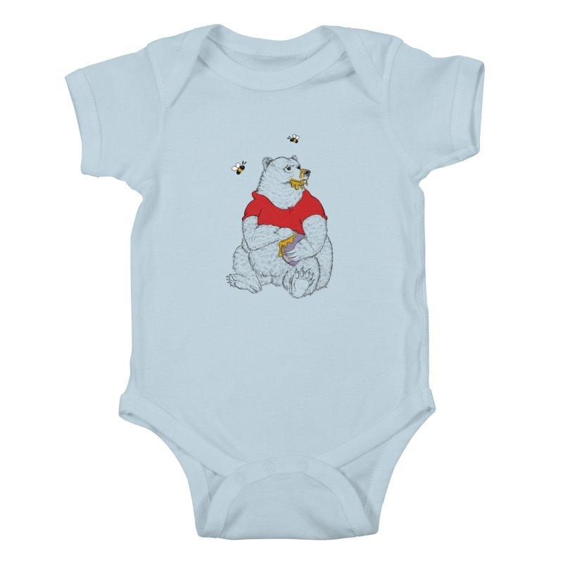 Silly ol' Bear Kids Baby Bodysuit by Luke Wisner