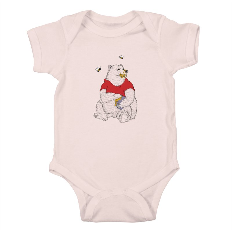 Silly ol' Bear Kids Baby Bodysuit by Luke Wisner