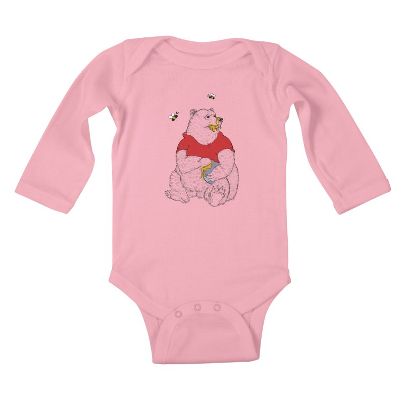Silly ol' Bear Kids Baby Longsleeve Bodysuit by Luke Wisner