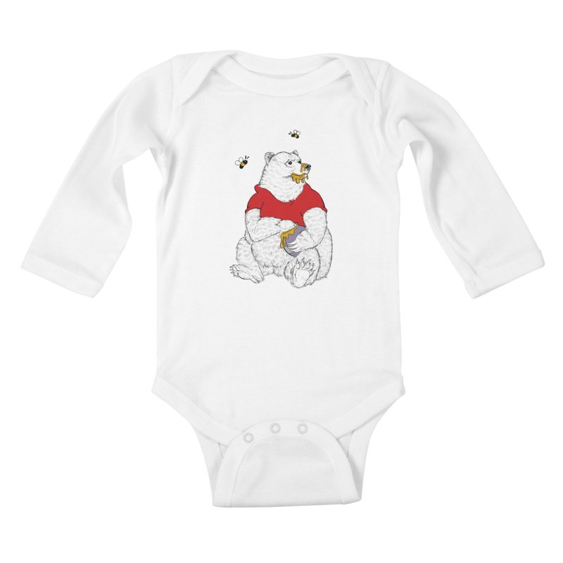 Silly ol' Bear Kids Baby Longsleeve Bodysuit by Luke Wisner