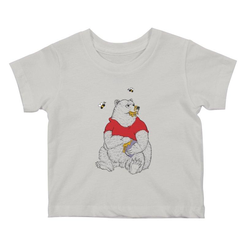 Silly ol' Bear Kids Baby T-Shirt by Luke Wisner
