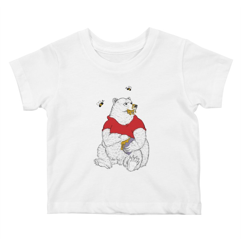 Silly ol' Bear Kids Baby T-Shirt by Luke Wisner