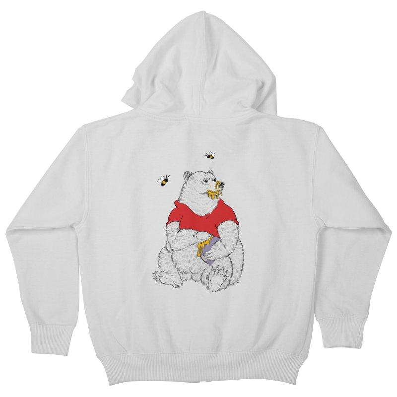 Silly ol' Bear Kids Zip-Up Hoody by Luke Wisner