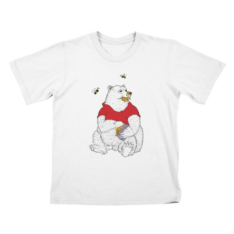 Silly ol' Bear Kids T-shirt by Luke Wisner