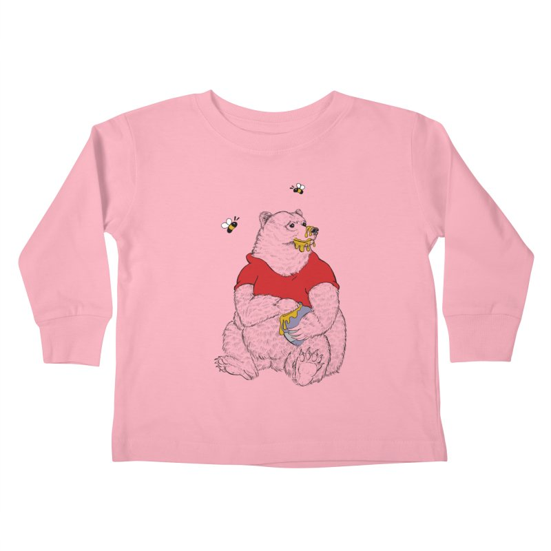 Silly ol' Bear Kids Toddler Longsleeve T-Shirt by Luke Wisner