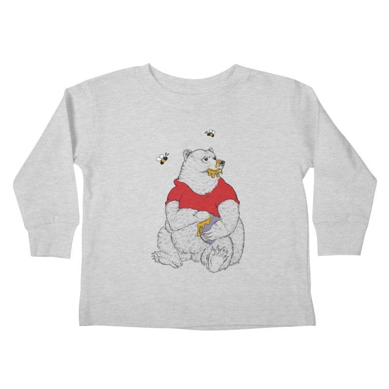 Silly ol' Bear Kids Toddler Longsleeve T-Shirt by Luke Wisner