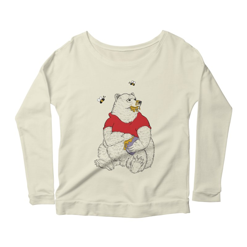 Silly ol' Bear Women's Scoop Neck Longsleeve T-Shirt by Luke Wisner