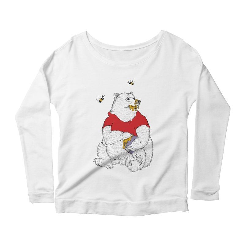 Silly ol' Bear Women's Scoop Neck Longsleeve T-Shirt by Luke Wisner