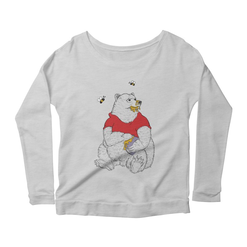 Silly ol' Bear Women's Longsleeve Scoopneck  by Luke Wisner