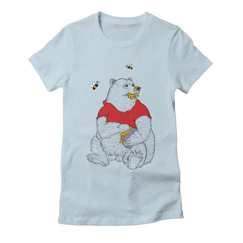 Silly ol' Bear Women's Fitted T-Shirt by Luke Wisner