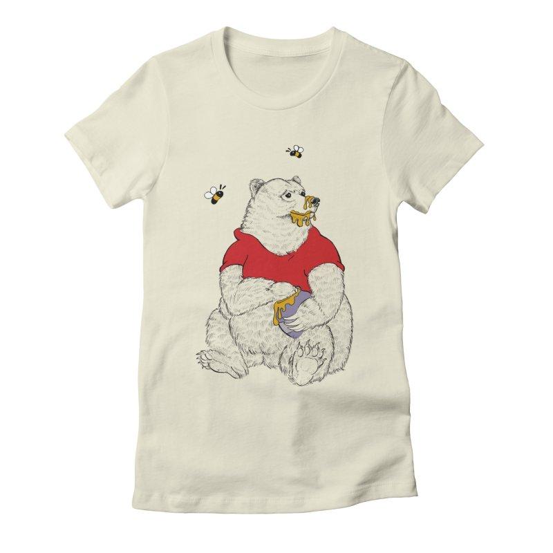 Silly ol' Bear Women's Fitted T-Shirt by Luke Wisner
