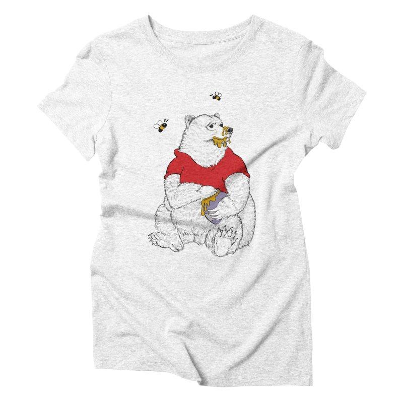 Silly ol' Bear Women's Triblend T-shirt by Luke Wisner