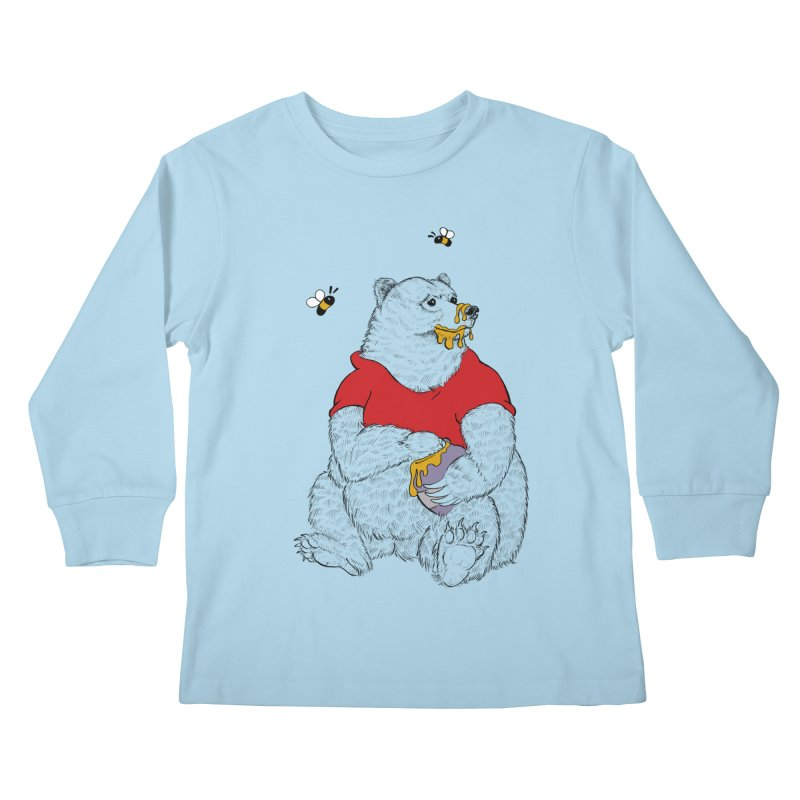 Silly ol' Bear Kids Longsleeve T-Shirt by Luke Wisner