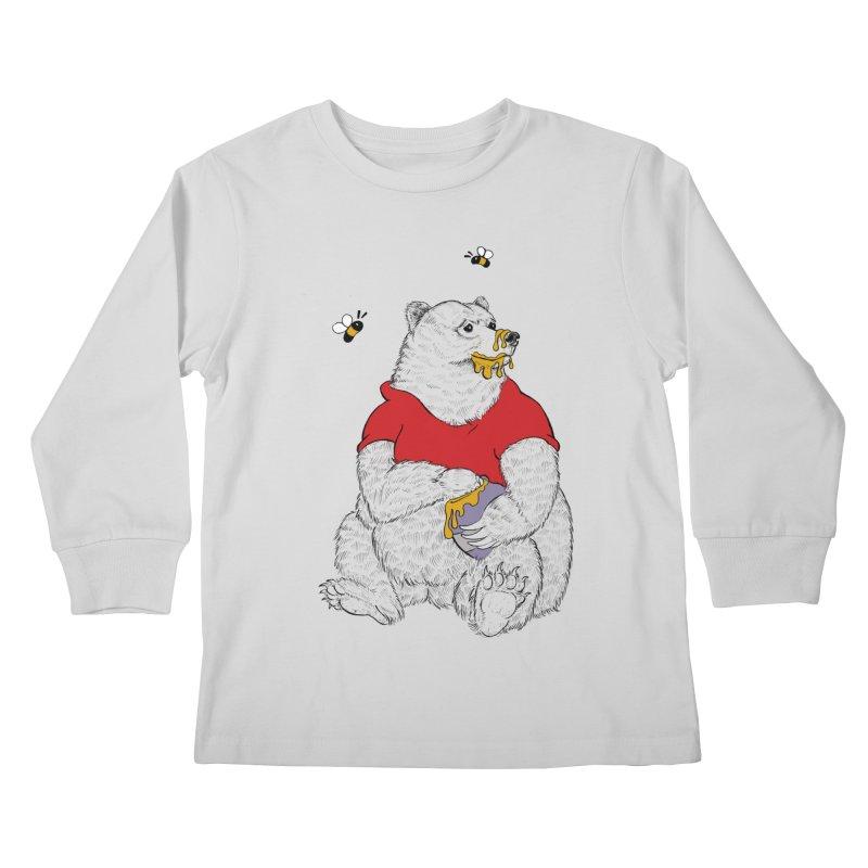 Silly ol' Bear Kids Longsleeve T-Shirt by Luke Wisner
