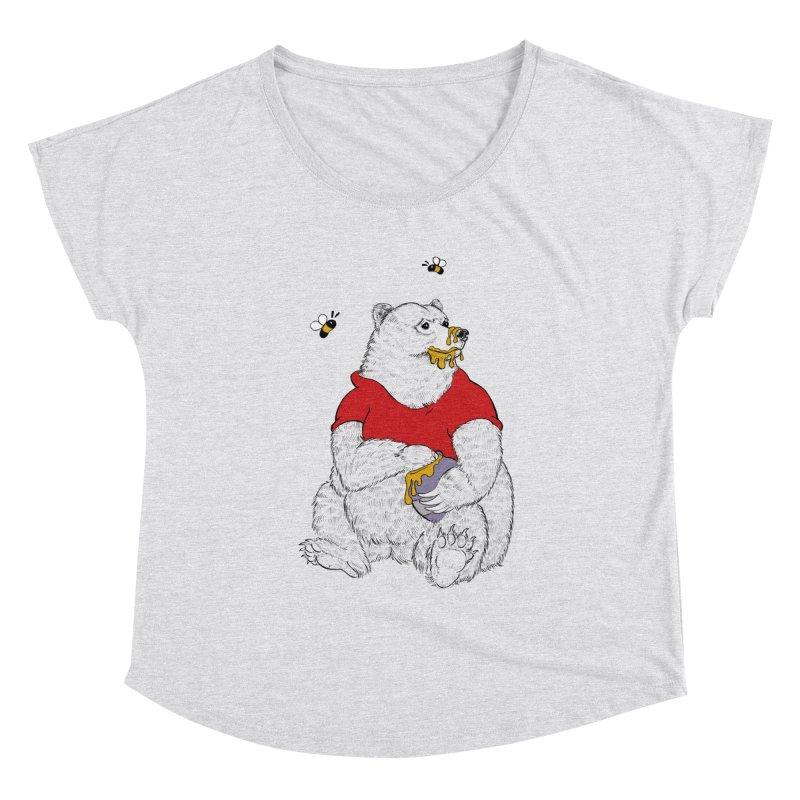 Silly ol' Bear Women's Scoop Neck by Luke Wisner