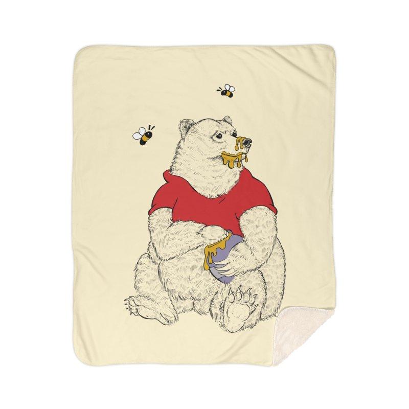 Silly ol' Bear Home Sherpa Blanket Blanket by Luke Wisner