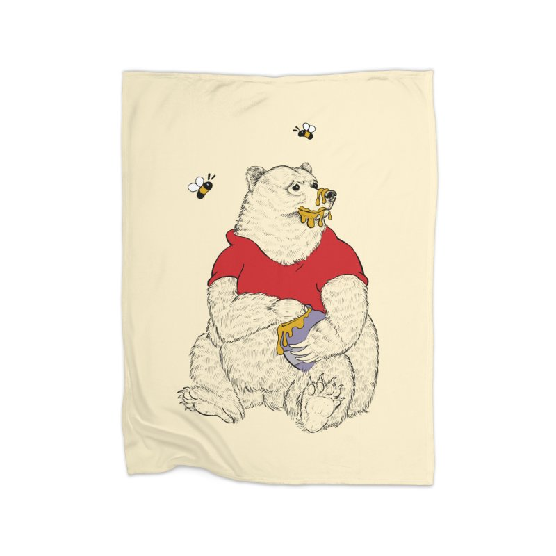 Silly ol' Bear Home Blanket by Luke Wisner