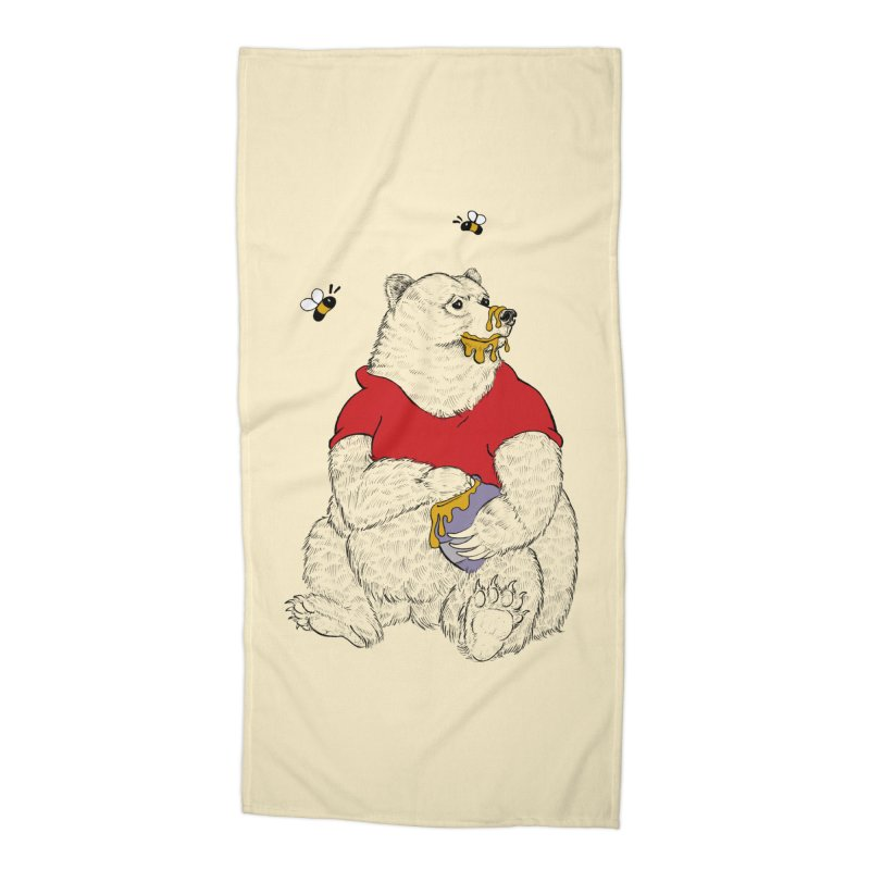 Silly ol' Bear Accessories Beach Towel by Luke Wisner
