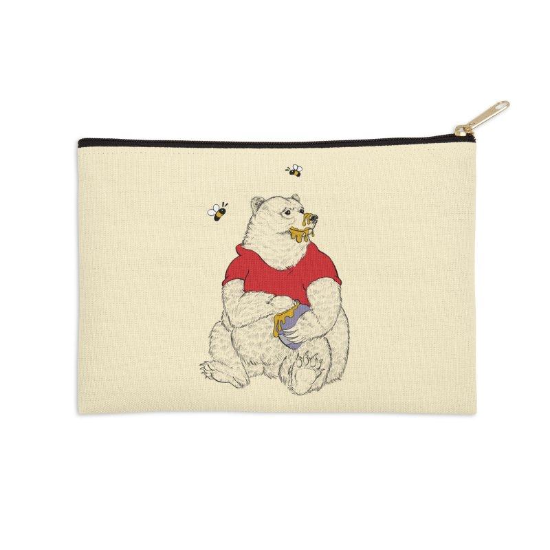 Silly ol' Bear Accessories Zip Pouch by Luke Wisner