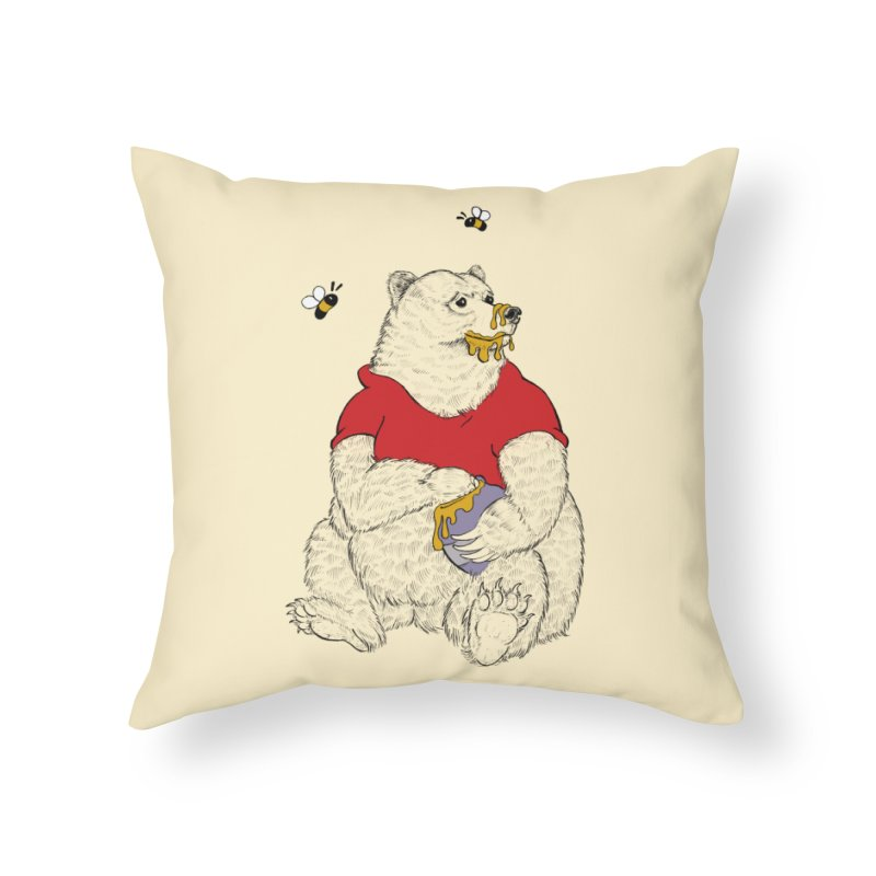 Silly ol' Bear Home Throw Pillow by Luke Wisner
