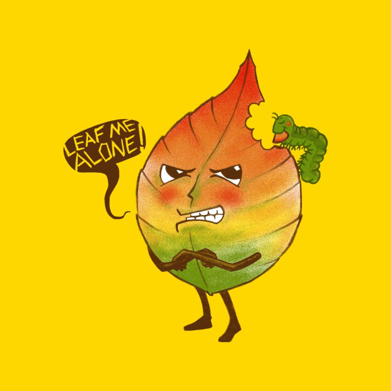 Leaf me alone! Men's T-Shirt by Luke Wisner