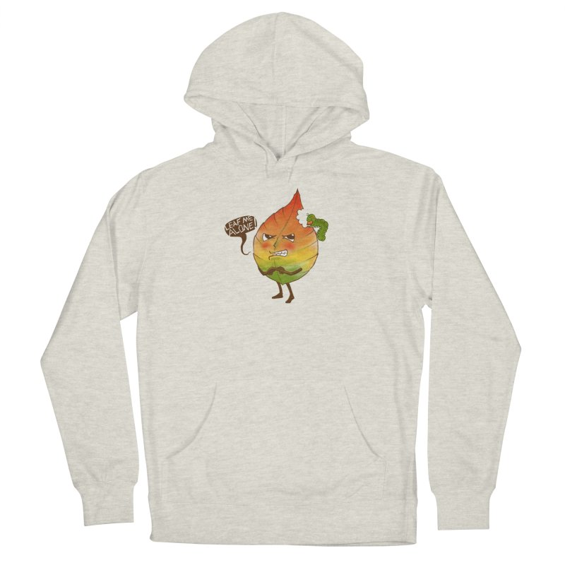 Leaf me alone! Men's French Terry Pullover Hoody by Luke Wisner
