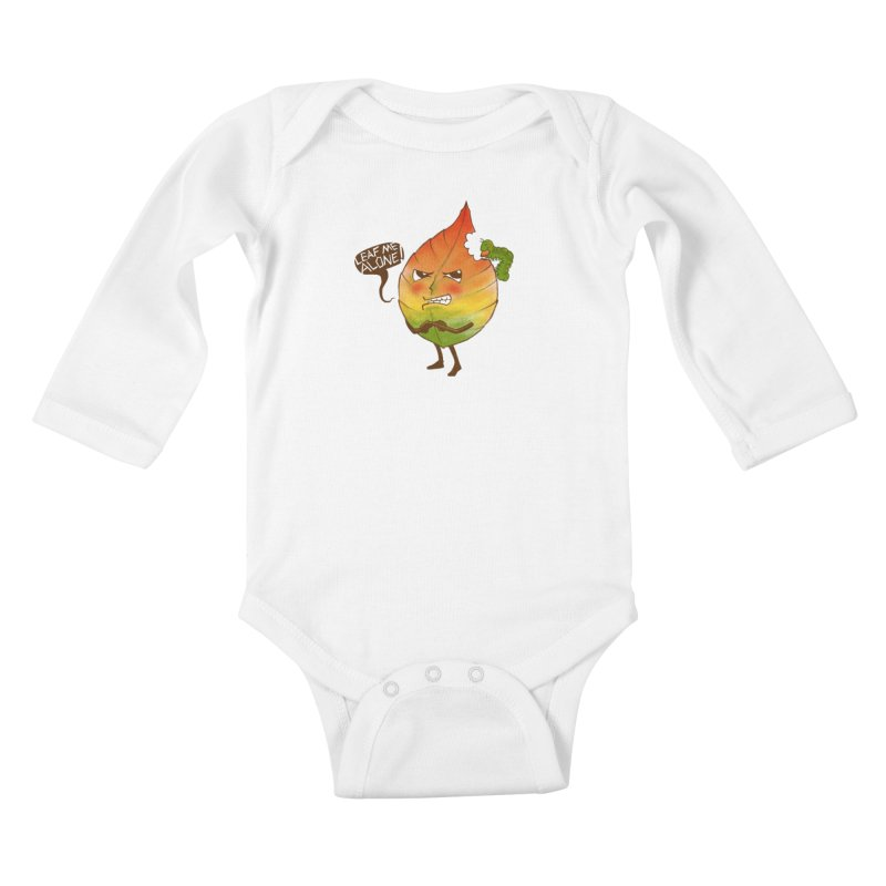 Leaf me alone! Kids Baby Longsleeve Bodysuit by Luke Wisner