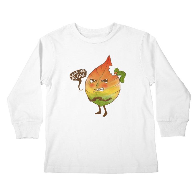 Leaf me alone! Kids Longsleeve T-Shirt by Luke Wisner
