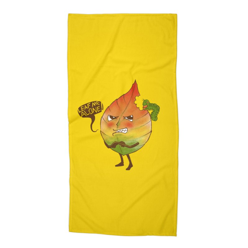 Leaf me alone! Accessories Beach Towel by Luke Wisner