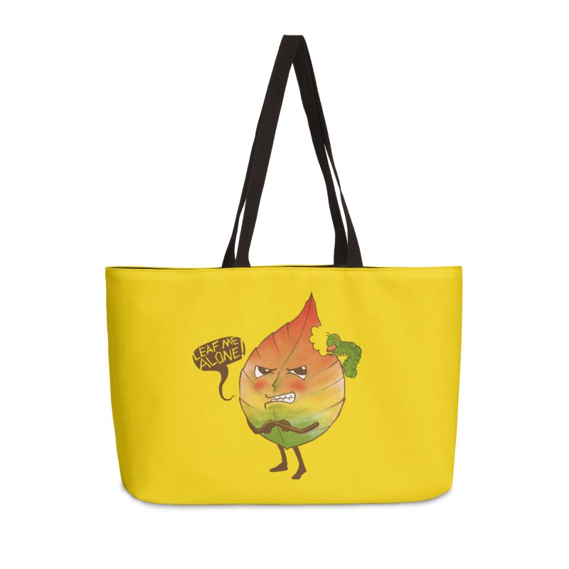 Leaf me alone! Accessories Weekender Bag Bag by Luke Wisner